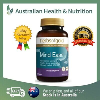 Herbs Of Gold - Anxiety Ease 60T - Clinically Trialled & Proven + Free Shipping
