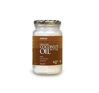 Melrose Organic Unrefined Coconut Oil 300Gm + Free Shipping