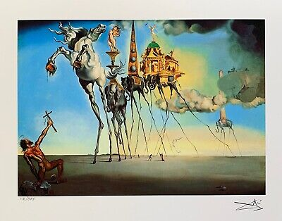 Salvador Dali TEMPTATION OF ST. ANTHONY Facsimile Signed & Numbered Giclee Art