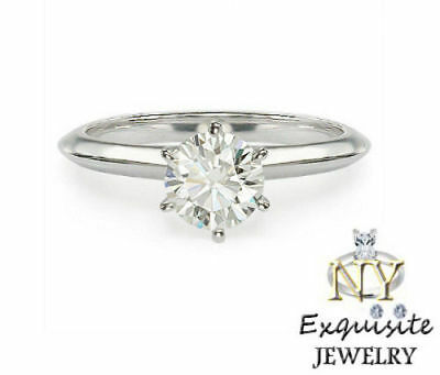 CERTIFIED .75ct H/I1 ROUND-CUT DIAMOND IN 14K GOLD SOLITAIRE ENGAGEMENT RING