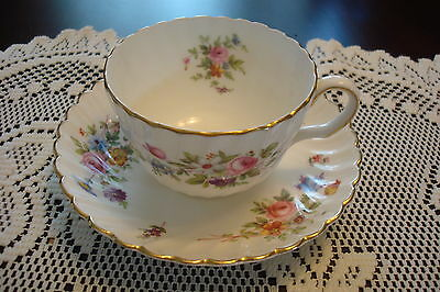 """Mintons England """"Marlow"""" pattern Tea Cup and Saucer, beautiful colors and gold"""