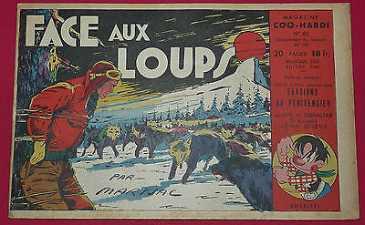 Petit Format Supplement N°65 Coq Hardi 1949 Jim Boum Face Aux Loups Eo Marijac