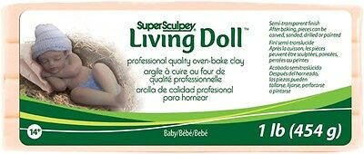 M00093 MOREZMORE Living Doll BABY 1 lb Polymer Oven-Bake Clay Super Sculpey
