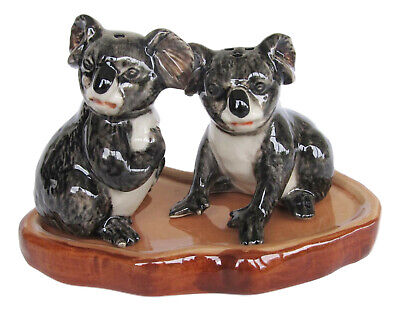 Australian Koala Ceramic Salt & Pepper Shakers on base