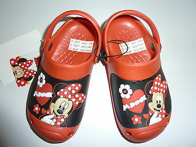 DISNEY Really Cute Little Minnie Mouse Clog Shoes NWT