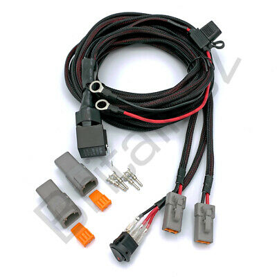 Fog Work Spot Light 12v Spots Wiring Kit Relay Switch 30 Amp Light Bar