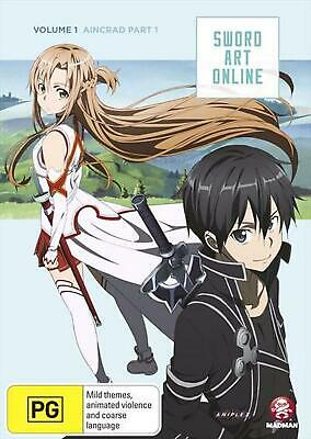 Sword Art Online - Aincrad : Vol 1 : Part 1 : Eps 1-7 - DVD Region 4 Free Shippi