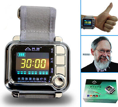 CE Wrist Diode Low level Laser light Therapy 650nm LLLT for high blood pressure*