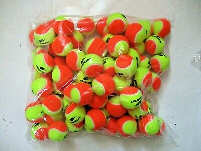 72 Stage 2 Low Compression Tennis Balls. 50% Slower Ball For Beginners