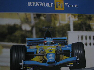 Poster & Bilder Renault F1 Team R24 Fernando Alonso 2004 Promotion Formula 1 Poster Double Sided