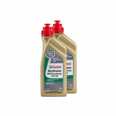 2 Litres Castrol Syntrans Multivehicle 75W90 Fully Synthetic Gear Oil - Vauxhall