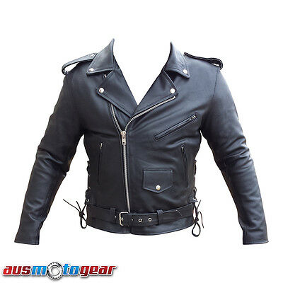 Brando Leather Jacket Motorcycle Biker Jacket for Men