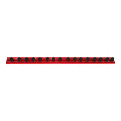 """VIM Tools MR16R16C 16"""" Red Magrail TL Magnetic Socket Holder with 16 1/2"""" Studs"""