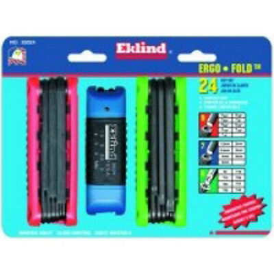 Eklind 25024 24 Piece Combination Ergo Fold Hex Key Sets
