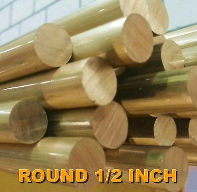 Brass Rod 1/2 inch Round - FREE CUTTING BRASS ALLOY C385 PER 1 METRE LENGTHS