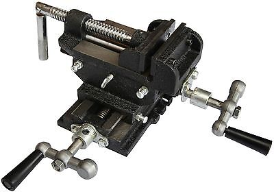 4'' 100mm Vice Cross Slide Vise 2 Way Drill Press Clamp Milling Industrial Qual