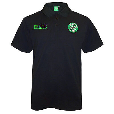 Celtic FC Official Football Gift Mens Crest Polo Shirt