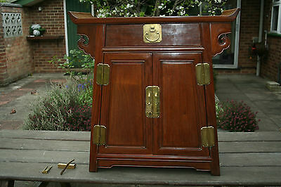Antique Chinese Cabinet  Qiaotougui Huali Wood #20140014
