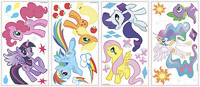 MY LITTLE PONY Wall Stickers 31 Decals Scrapbook Rainbow Dash MLP Glitter  Horses