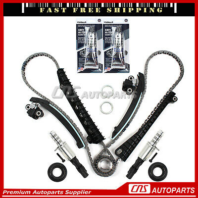 Timing Chain Kit Oil&Water Pump Cover Gasket For 04-08 Ford F150 Lincoln 5.4L 3V
