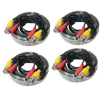 4 PACK PREMIUM 100Ft.  BNC EXTENSION CABLES FOR Lorex SYSTEMS
