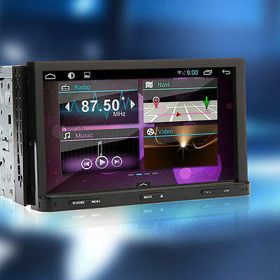"Camera ANDROID 4.2 7"" 2Din 3G-Wifi Car GPS Nav DVD Player In dash Radio Stereo"
