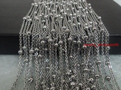 5M/10M In Bulk Jewelry Finding Stainless steel Girls 4mm Beaded chain DIY