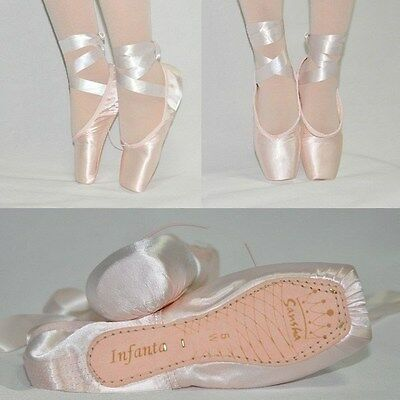 Sansha Professional Satin Ballet Shoes Dance Toe Shoes Pointe Shoes with Ribbon