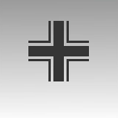 WWII  Luftwaffe Cross Wing Decal Military Insignia Sticker