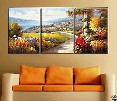 MODERN ABSTRACT HUGE WALL ART OIL PAINTING ON CANVAS(With framed)