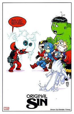 ORIGINAL SIN Lithograph, Skottie Young, BABY LITHO - w/ SPECIAL OFFER Marvel