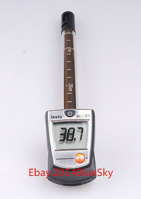 NEW Testo 405-V1 Thermal Anemometer with Duct Holder Air/Wind Speed Meter Tester