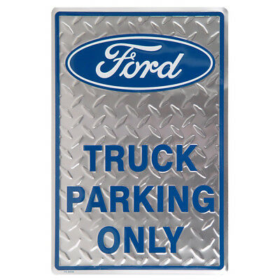 Ford Truck Parking Only Metal Sign Tin Automotive Garage Decor 12 x 18