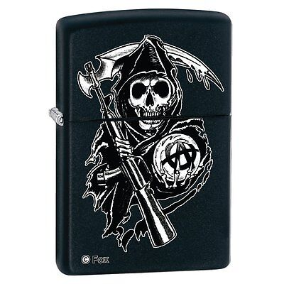 Zippo Lighter With Sons Of Anarchy The Reaper Design New Boxed 28504