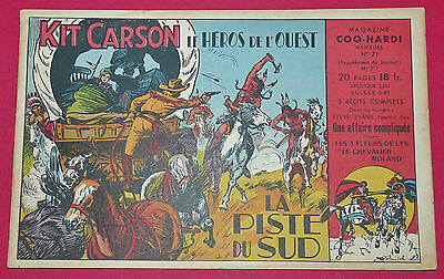 Petit Format Supplement N°71 Coq Hardi 1950 Kit Carson Piste Du Sud Eo