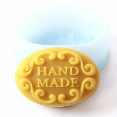 Hand Made In Oval Silicone Soap Mould R0256 FREE P&P
