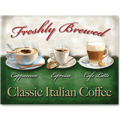 Italian Coffee Cappuccino Espresso Latte Metal Sign Cafe Wall Decor 16 x 12