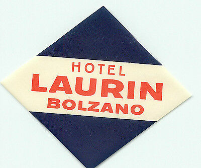 Bolzano Italy Hotel Laurin Vintage Luggage Label