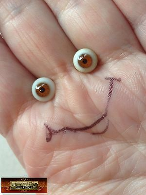 M00648 MOREZMORE Miniature. Glass Eyes 5 mm BROWN Small Tiny Doll Baby A60