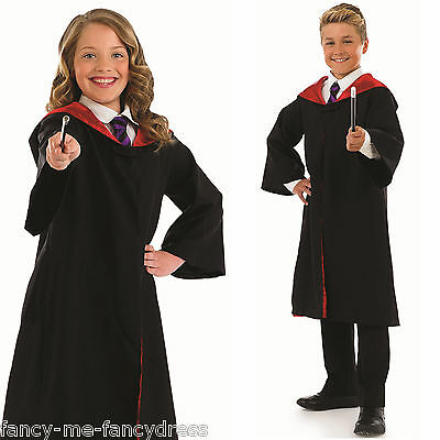 Boys Girls Kids Film Wizard + Wand Book Day Fancy Dress Costume Outfit 4-12 yrs