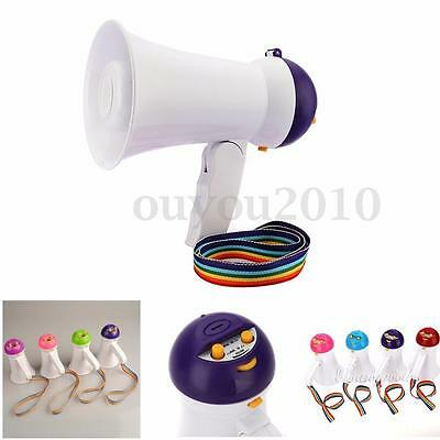 5W Mini Megaphone Microphone Horn Bull Loud Speaker Amplifier Bullhorn  + Music