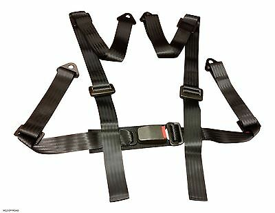 Racing Harness Seat Belt 3 / 4 Point Fixing Mounting – Black