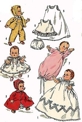 Vintage Doll Clothes PATTERN 1844 for16 in Betsy Wetsy Tiny Tears by Ideal 50s