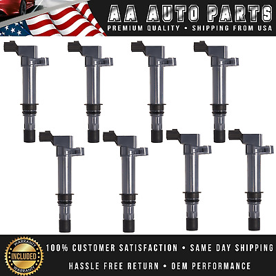 Ignition Coil Set of 8 For Dodge Jeep Mitsubishi 3.7L V6 4.7L V8 UF270 C1231