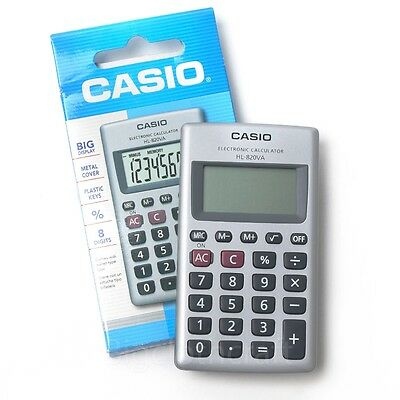 New CASIO HL-820VA Pocket Size Practical Calculator 8 Digit Portable
