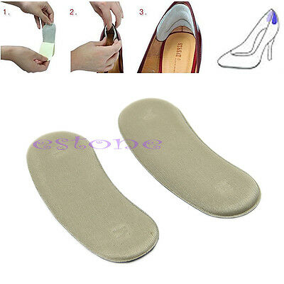 5 Pairs Shoe Back Heel Inserts Insoles Pads Cushion Liner Grips Sticky Fabric