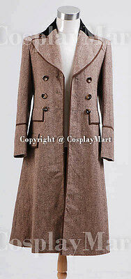 Brown Cosplay Costume Outfit Long Trench Suit Coat {148} Doctor Who Dr