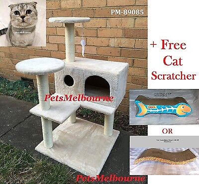 Cat Scratching Post/All SISAL Pole/Sturdy Solid boarded condo not cheapFurCover