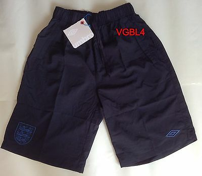 Umbro England Men's Black  Galaxy Woven Shorts Bnwt