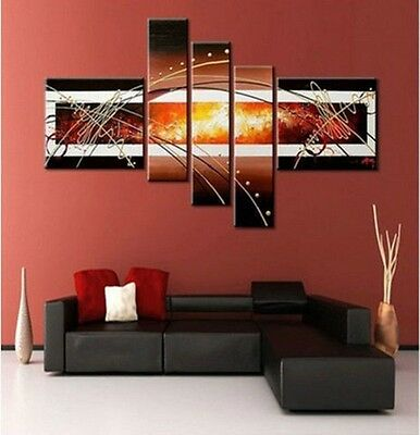 Beautiful ! 5PC MODERN ABSTRACT HUGE WALL ART OIL PAINTING ON CANVAS No frame